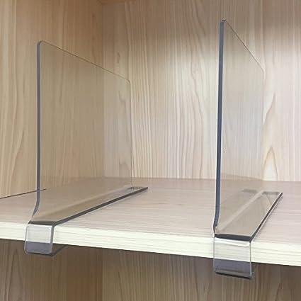 Sooyee 2 PCS Beautiful Acrylic Shelf Dividers, Perfect Perfect For Closets  Kitchen Bedroom Shelving Organization