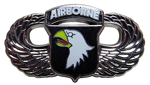 US Army 101st Airborne Screaming Eagles Wings Metal Lapel Hat Pin 1-1/2