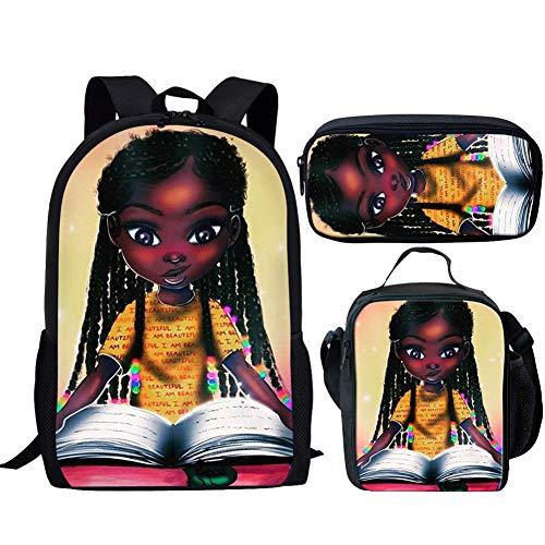 Smileygirl African Bookbags for Teenage Girls Black