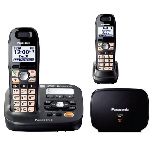 (Panasonic KX-TG6592T + TGA405B (Range Extender) 2 Handset Cordless Telephone System (1.9GHz DECT 6.0))