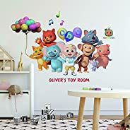 RoomMates RMK4959GM Cocomelon Peel and Stick Giant Wall Decals With Alphabet