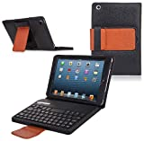COD(TM) Bluetooth Keyboard Tablet Stand Leather Case for New Apple iPad Mini 7.9 inch / the iPad Mini 7 Inch / built-in Stand for Apple iPad Mini 7.9 inch Latest Generation 4G LTE (White/Red)