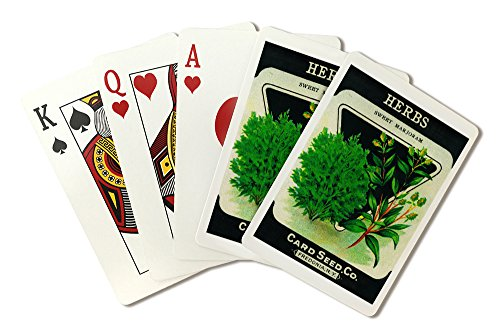 Herbs (sweet marjoram) Seed Packet (Playing Card Deck - 52 Card Poker Size with Jokers)