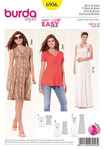 - Burda Ladies Easy Sewing Pattern 6956 Maternity Tops & Dresses