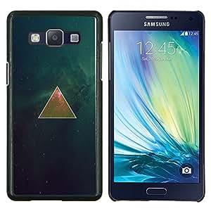 Qstar Arte & diseño plástico duro Fundas Cover Cubre Hard Case Cover para Samsung Galaxy A5 A5000 (Espacio Triangel Galaxy)