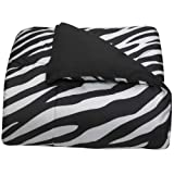 Black and White Zebra College Classic Extra-Long Comforter