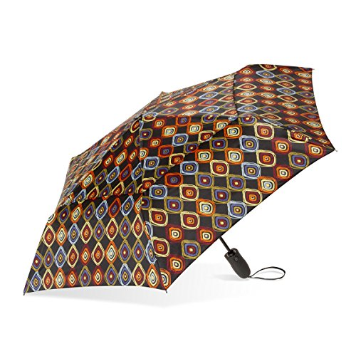 ShedRain Windjammer Vented Auto Open/Close Print Compact Wind Umbrella: Bronwyn