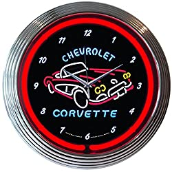 Neonetics Corvette C1 Neon Wall Clock, 15-Inch