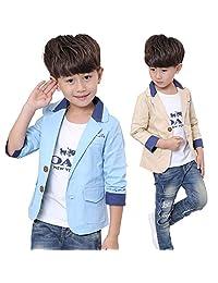 Kids Boys Fashion Blazers Casual Jackets Blazers Dress Suit Jacket