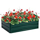 Giantex Dark Green 39.5''x31.5'' Patio Raised Garden Bed Vegetable Flower Plant Dark Green (39.5''x31.5'')