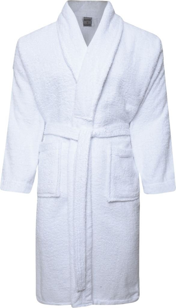 Mens and Ladies 100% Cotton Terry Toweling Shawl Collar White ...
