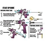 Central Pneumatic 47016 High Volume Low Pressure Gravity Feed Spray Gun, 20 oz