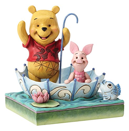 Disney Traditions by Jim Shore Winnie the Pooh and Piglet 50th Anniversary Stone Resin Figurine, 5.8