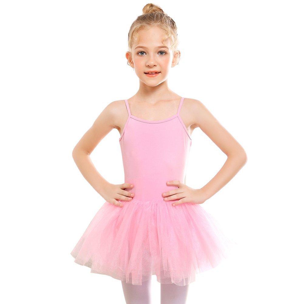 STELLE Girls' Camisole Tutu Dress for Dance, Gymnastics&Ballet (Toddler/Little Kids/Big Kids)(110, Ballet Pink)