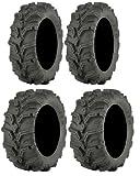 Full set of ITP Mud Lite XTR (6ply) 26x9-12 and 26x11-12 ATV Tires (2)
