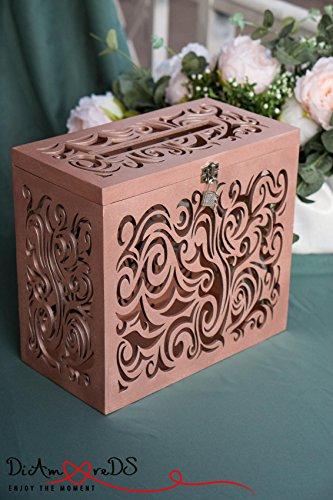 Amazon.com: Wedding Card Box with Lock, Wedding Card Holder with ...