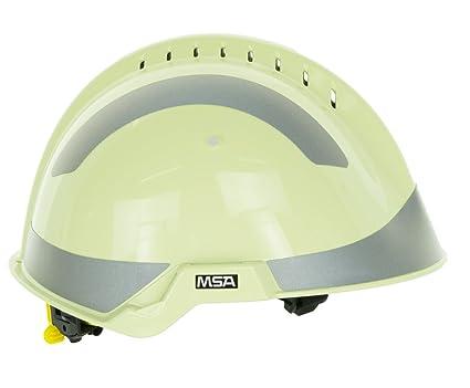 MSA Safety – Casco protector F2 X -Trem | correa de barbilla | nachleuchtend |