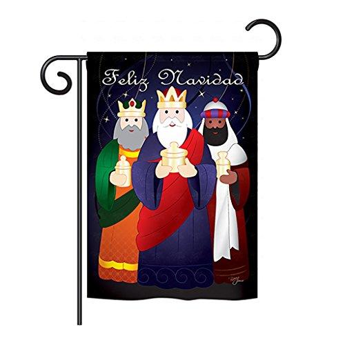 Cheap Breeze Decor – Feliz Navidad Winter – Seasonal Nativity Impressions Decorative Vertical Garden Flag 13″ x 18.5″
