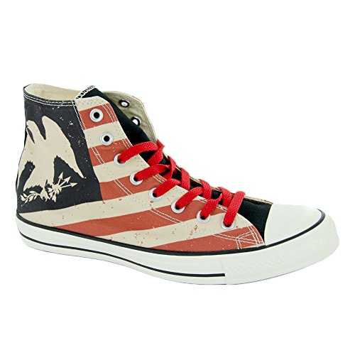 Converse AS HI CAN OPTIC. WHT M7650 - Botines de lona unisex, color blanco Black/Fire brick