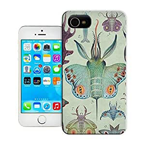 Unique Phone Case Animal personality patterns A painting by Vladimir Stankovic of hybrid animal created from butterflies and sea creatures Hard Cover for iPhone 4/4s cases-buythecase
