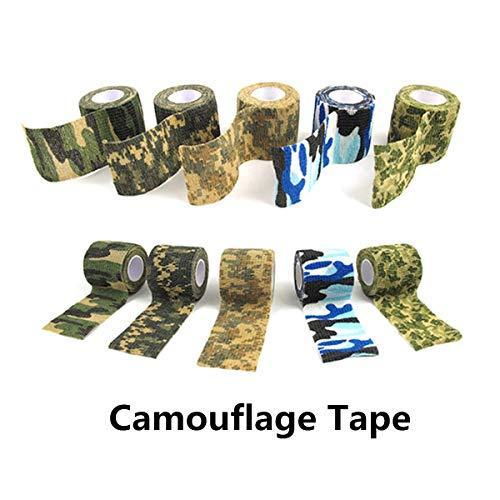 Tornado Camouflage Tape Self-Adhesive Camo Wrap Tape Cling Scope Wrap Military Camo Multifunction for Gun Rifle Shotgun Camping Hunting by Tornado (Image #5)