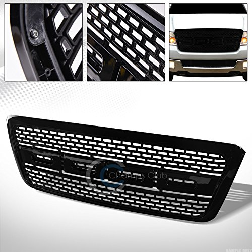 R L Racing Glossy Black Raptor Square Mesh Front Hood Bumper Grill Grille Abs 04 08 Ford F150