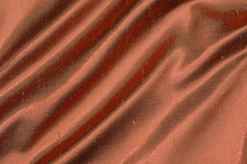 Rusty Gold Metallic Shantung Silk Fabric