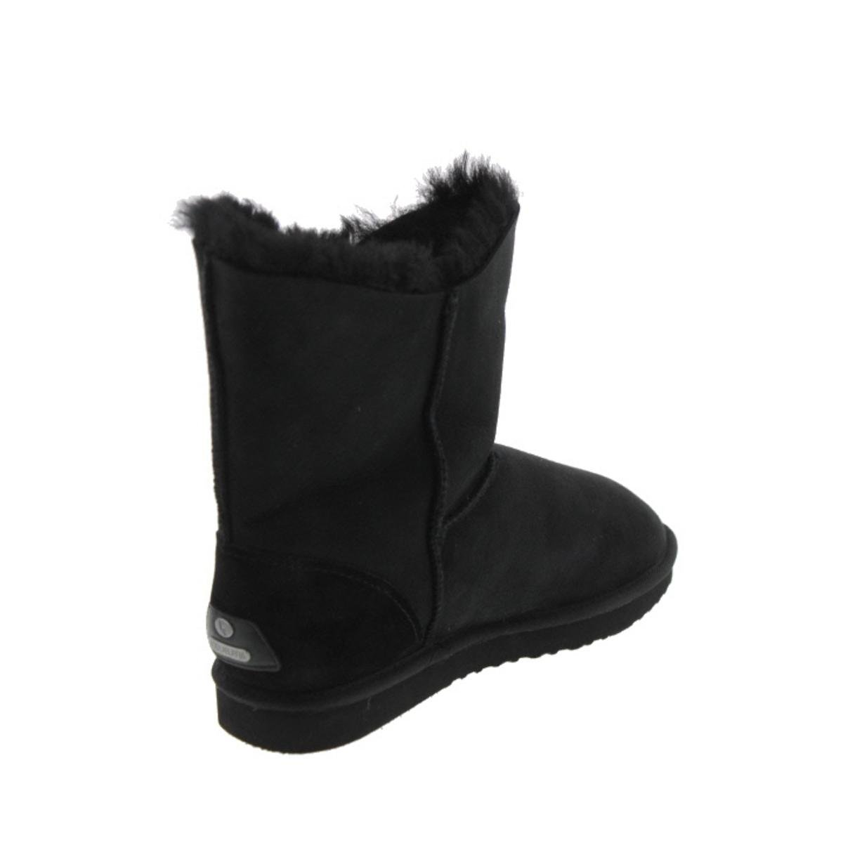 Koolaburra Women's Double Halo Short Snow Boot B00MCBN2F0 11 B(M) US|Black Suede