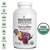 Nova Scotia Organics BerrySlim Smoothie Mix (15.8 oz); Certified Organic; Vegan; 120 Calories, 6g Fiber and 4g Protein/Serving