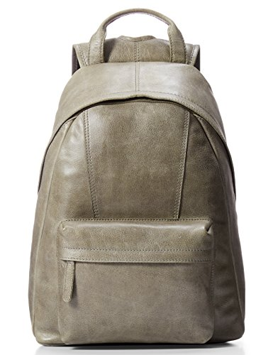 LEATHER ARCHITECT-Men's 100% Leather  Backpack-Grey by Leather Architect