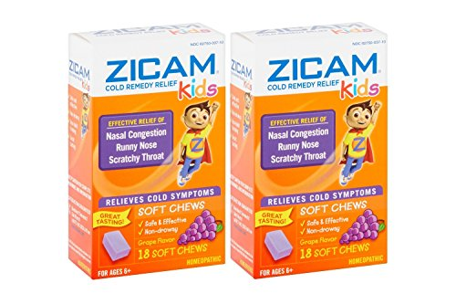 Grape Chew (Zicam Cold Remedy Kids Soft Chews Grape Flavor - 18 Ct Two Pack)