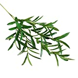 SUKEQ Green Artificial Olive Branch Leaves, Beautiful Fake Plant Foliage Grass Bushes Office Wedding Party Home Garden Decor