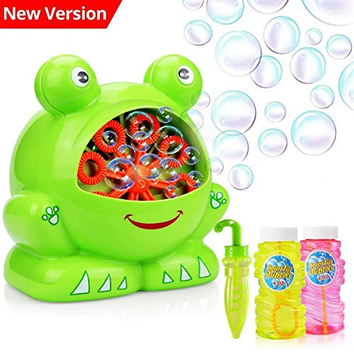 COOLWAS Bubble Machine with Bubble Solution, Automatic Bubble Machine for Kids with High Output Over 500 Bubbles Per Minute , Battery Operated, Outdoor/Indoor Use