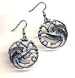 Dragon Earrings, Surgical Steel Earrings, Game of Thrones Earrings, Statement Dragons Earrings, Stainless steel Daenerys Targaryen Earrings by AnnaArt72