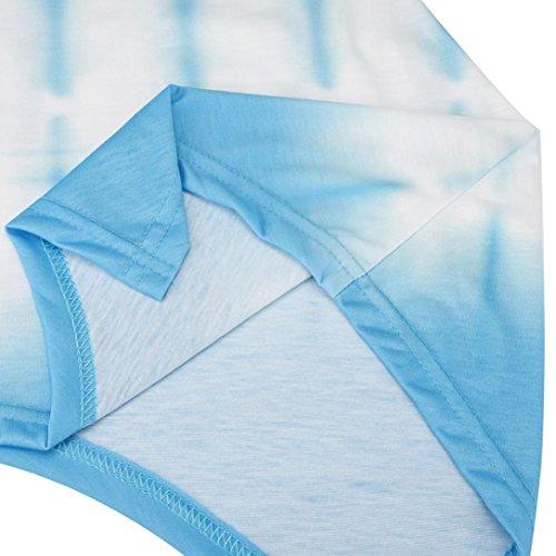 Loose T Casual Gradient Grand Chemise 4 Blouse Longues Chic XXXXXL Couleur Tops Neck S O Irrgulire Guesspower Shirt Bleu Femme Blouse Tops Manches Taile p6n6AUz