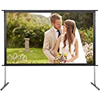 Indoor Outdoor Projector Screen with Stand 120