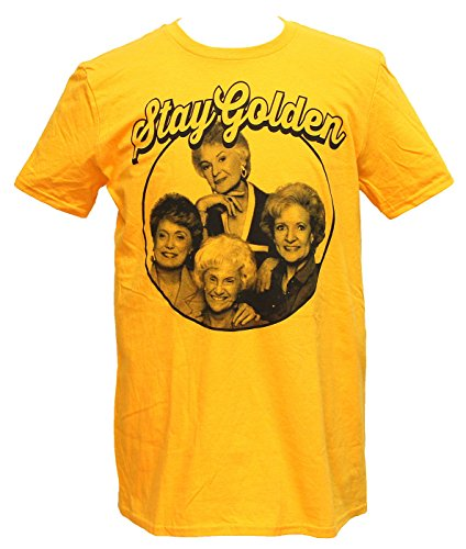 Golden Girls Mens T-Shirt - Stay Golden Phoo Circle Image (Extra Large) Golden Yellow