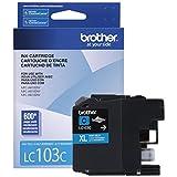 Brother Printer LC103C High Yield Cartridge Ink, Cyan