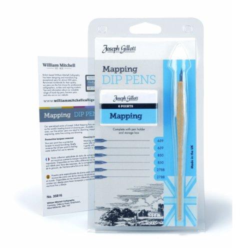 Mapping Pen (1 X Joseph Gillot Dip Pen Mapping Set)