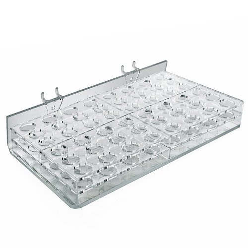 Azar Displays 225582 48-Compartment Cosmetic Tray for Pegboard, Slatwall / Counter Top (Tray Slatwall)