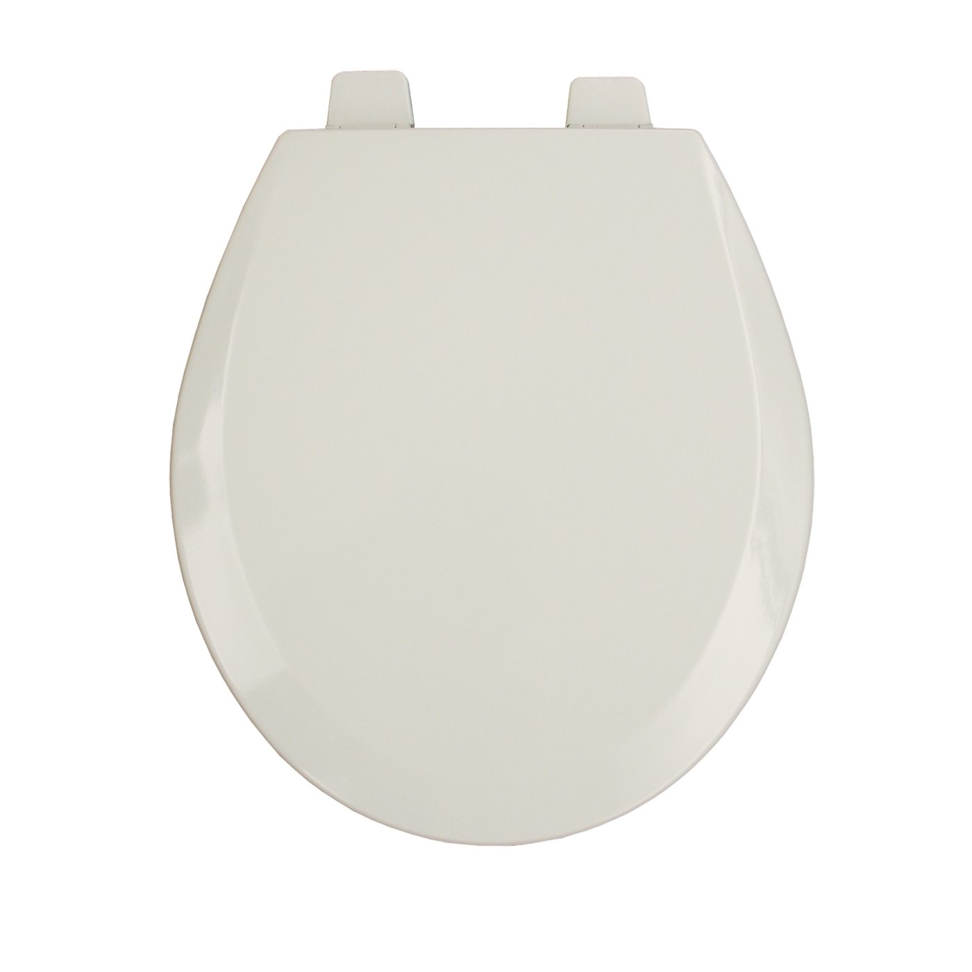 Bemis 550PRO006 Molded Wood Open Front With Cover Round Toilet Seat Pro Hinges Bone