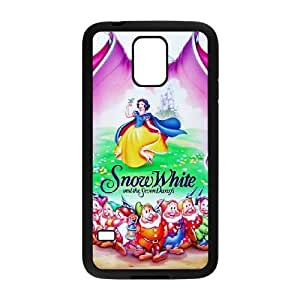 Special Design Case Samsung Galaxy S5 I9600 Black Cell Phone Case Xqgbj Snow White and Seven Dwarfs Durable Rubber Cover