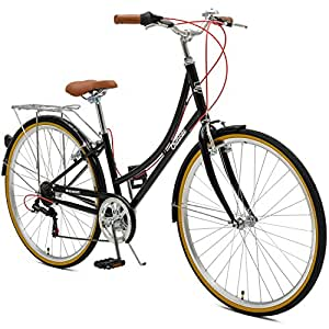 Critical Cycles Beaumont-7 Seven Speed Lady's Urban City Commuter Bike; 38cm, Black, 38cm/Small