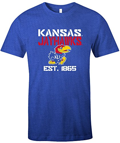 (NCAA Kansas Jayhawks Est Stack Jersey Short Sleeve T-Shirt, Royal,X-Large)