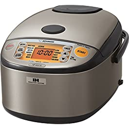 Zojirushi NP-HCC10XH Induction Heating System Rice Cooker and Warmer, 1 L, Stainless Dark Gray