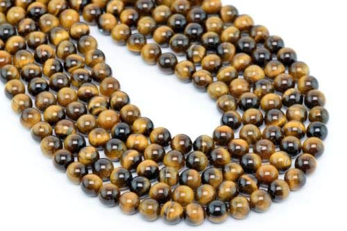 4mm Natural Yellow Tiger Eye Gemstone Beads Grade Round Loose Beads 15.5'' Crafting Key Chain Bracelet Necklace Jewelry Accessories Pendants