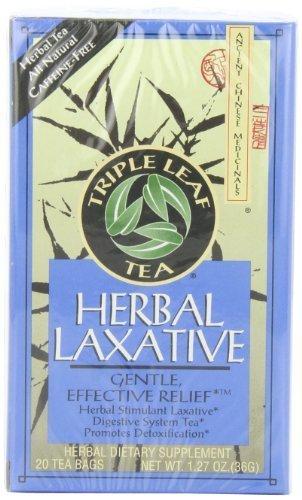 (Triple Leaf Tea, Herbal Laxative, 20 Tea Bags (Pack of 6))