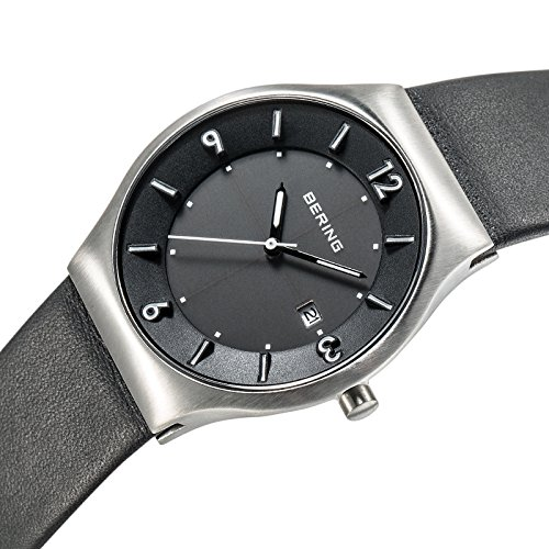 Amazon.com: BERING Time 14440-402 Mens Solar Collection Watch with Calfskin  Band and scratch resistant sapphire crystal. Designed in Denmark.