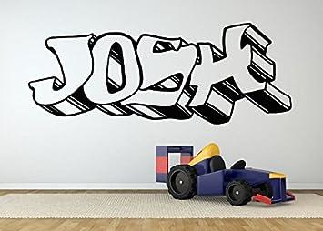 Amazon wall room decor art vinyl sticker mural decal josh wall room decor art vinyl sticker mural decal josh graffiti name poster boy bedroom nursery playroom thecheapjerseys Gallery