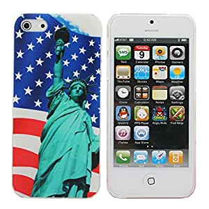 Iphone 5/5c/5s/Se - Statue Of Liberty Under The Flag OfPattern Hard Case For5g - Statue Liberty Lego Decal Sticker OrnamentBarbie Art Book Watch Brass Metal Blocks - 1PCs